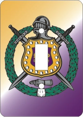 Omega Psi Phi light switch cover - single