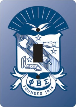 Phi Beta Sigma light switch cover - single