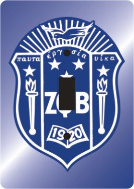 Zeta Phi Beta light switch cover - single