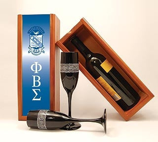 Phi Beta Sigma - wine box