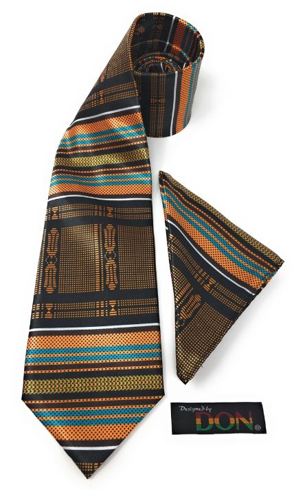 Neck Tie - Kente Blue- DC-246A