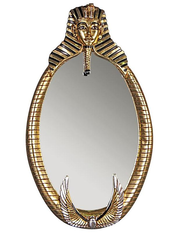 Tutankhamen Oval Wall Mirror
