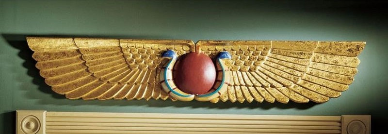 Egyptian Temple Wall Pediment