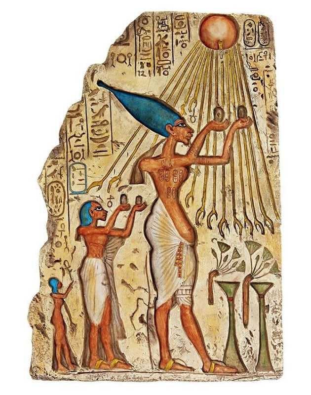 Pharaoh Akhenaten Wall Plaque