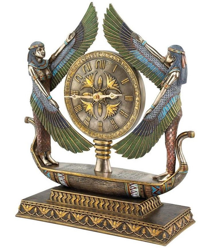 Wings of Isis Egyptian Clock