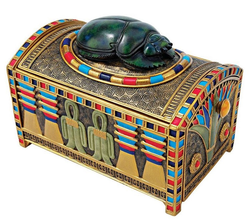 Royal Egyptian Scarab Treasure Box