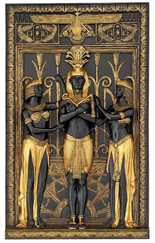 Pharaoh and His Maidens Wall Plaque