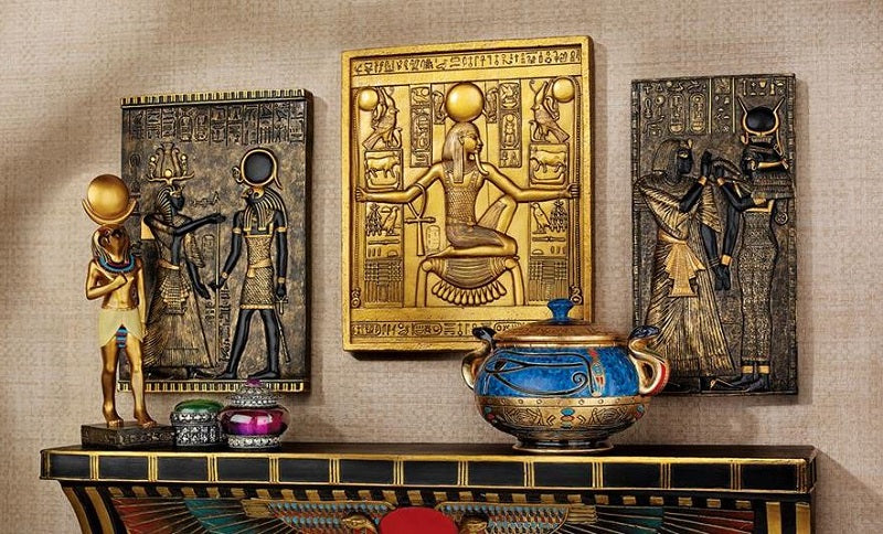 Egyptian Temple Plaques - 3-piece set