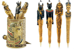 Ancient Egyptian Pen Set and Holder