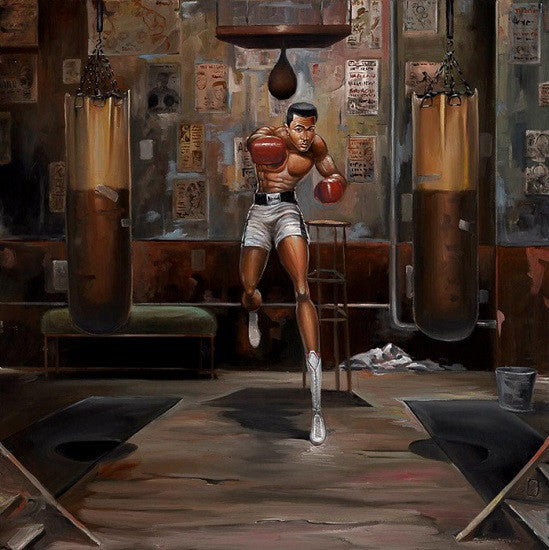 Float Like A Butterfly 30x30 Giclee On Canvas Frank
