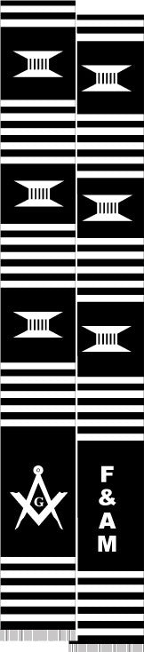 z-Masons stole - F and A M - black and white
