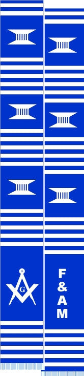 z-Masons stole - F and A M - blue and white