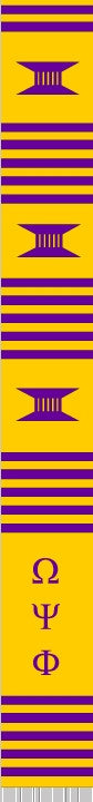 z-Greek Graduation Stole - Omega Psi Phi - gold