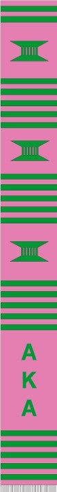z-Greek Graduation Stole - Alpha Kappa Alpha - hot pink