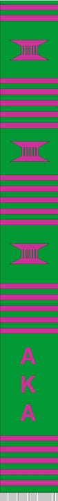 z-Greek Graduation Stole - Alpha Kappa Alpha - green