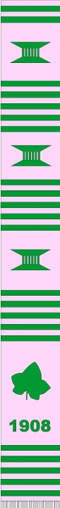 z-Greek Graduation Stole - Alpha Kappa Alpha - pink ivy leaf