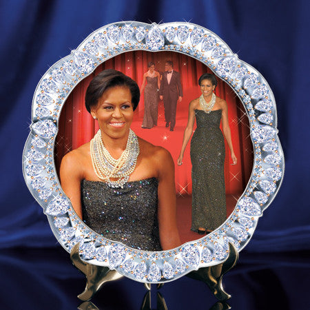Michelle Obama decorative plate - Black Tie Event