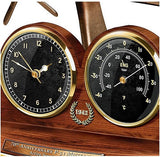 P-51 Mustang - tabletop clock and thermometer