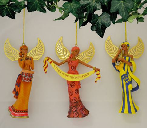 The Lord's Blessings - Keith Mallett angel ornaments set 2