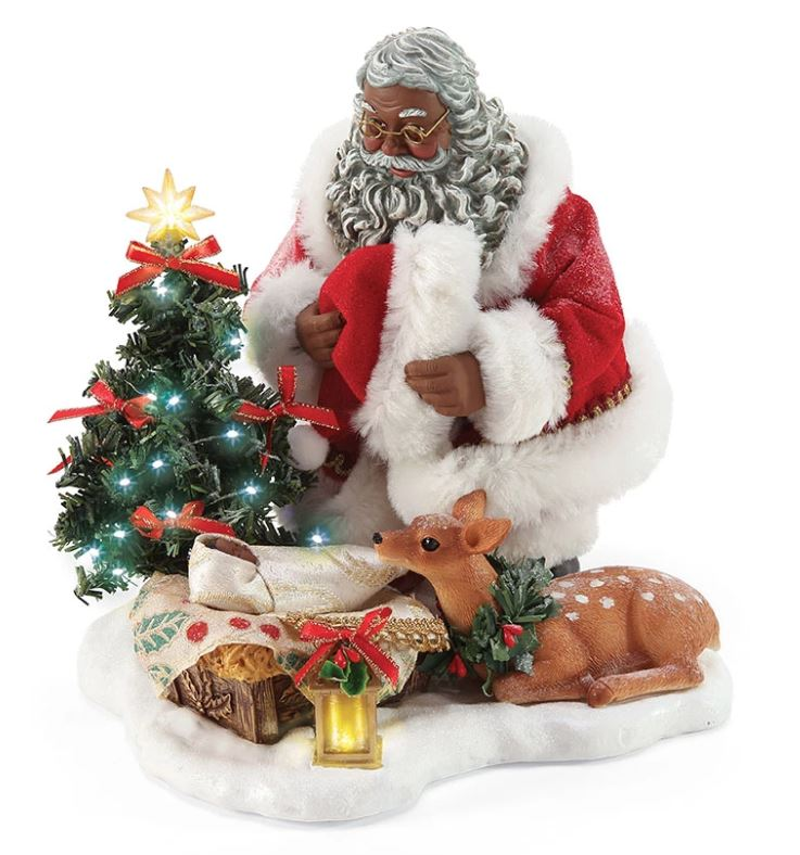 Holy Infant - African American Santa figurine