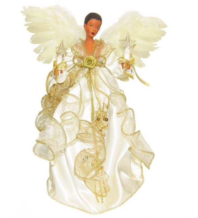 Angel Tree Topper - Ivory and Gold - Angel Tree Topper - Ivory And Gold €� It's A Black Thang.com