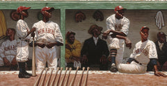 Kansas City Dugout - 30x15 limited edition print - Kadir Nelson