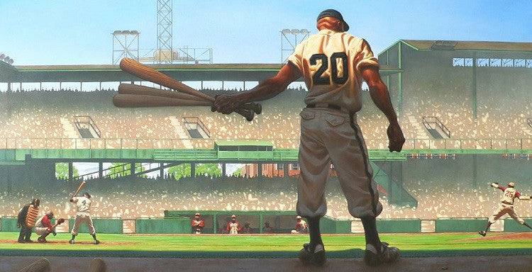 Mighty Josh - 30x15 limited edition print - Kadir Nelson