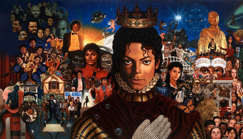 The King of Pop - 40x24 print - Kadir Nelson