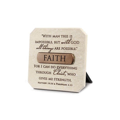 Bronze Title Bar - Faith Plaque