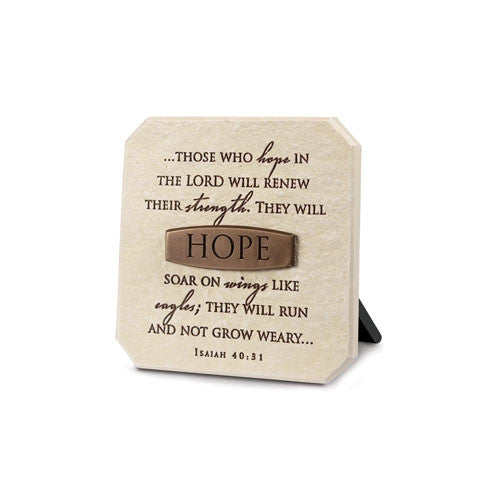 Bronze Title Bar - Hope Plaque