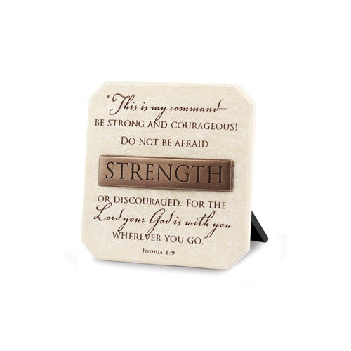 Bronze Title Bar - Strength Plaque