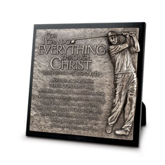 Sculpture Plaque - Golfer - I Can Do All Things
