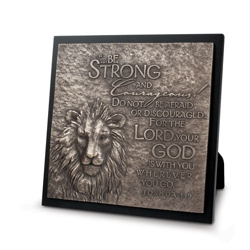 Sculpture Plaque - Lion - Be Strong and Courageous