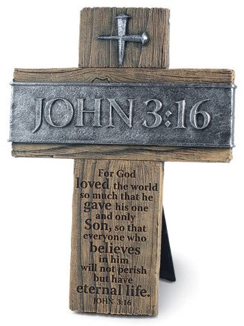John 3-16 - desk cross