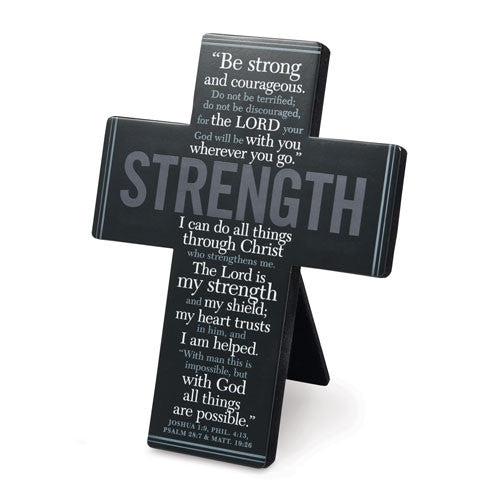 Words of Inspiration - Strength cross