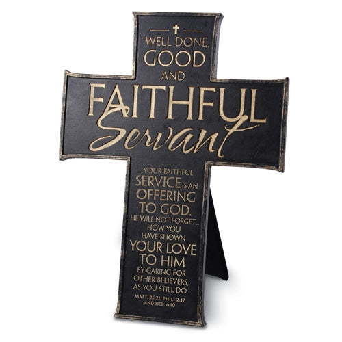 Faithful Servant - Cross - black