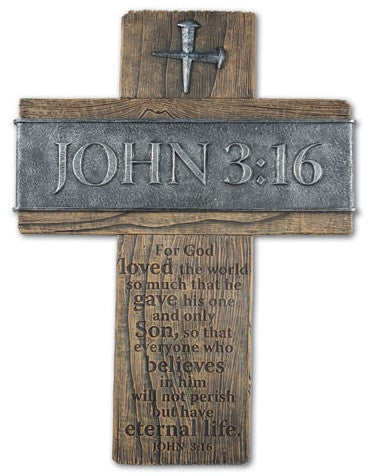 John 3-16 - large wall cross