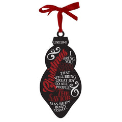 Chalkboard Ornament - Christmas