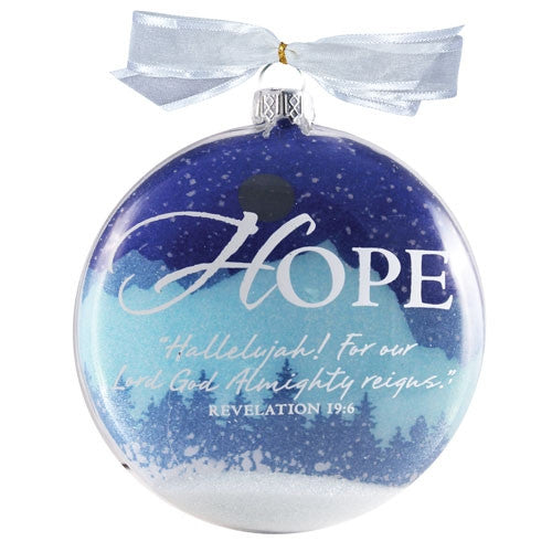 Snow Globe Ornament - Hope