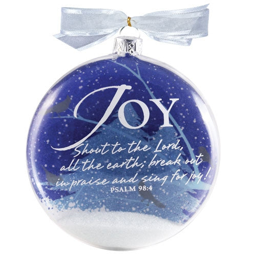 Snow Globe Ornament - Joy