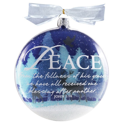 Snow Globe Ornament - Peace