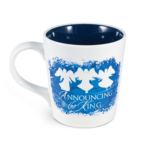 Nativity Greetings Mug - Announcing The King
