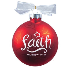 Christmas Swirls ornament - Faith