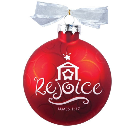 Christmas Swirls ornament - Rejoice