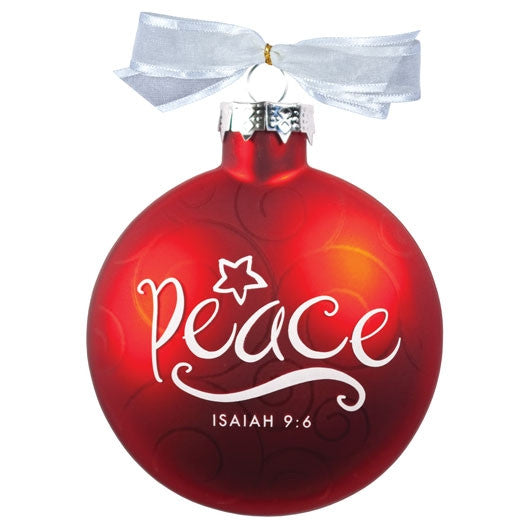 Christmas Swirls ornament - Peace