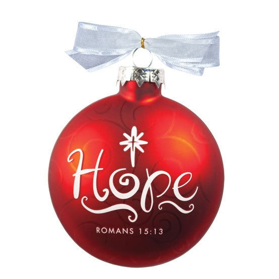 Christmas Swirls ornament - Hope