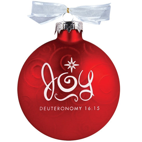 Christmas Swirls ornament - Joy