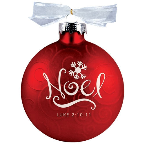 Christmas Swirls ornament - Noel