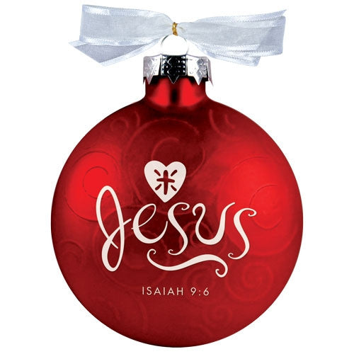Christmas Swirls ornament - Jesus