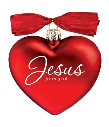 Heart of Christmas ornament - Jesus the Heart